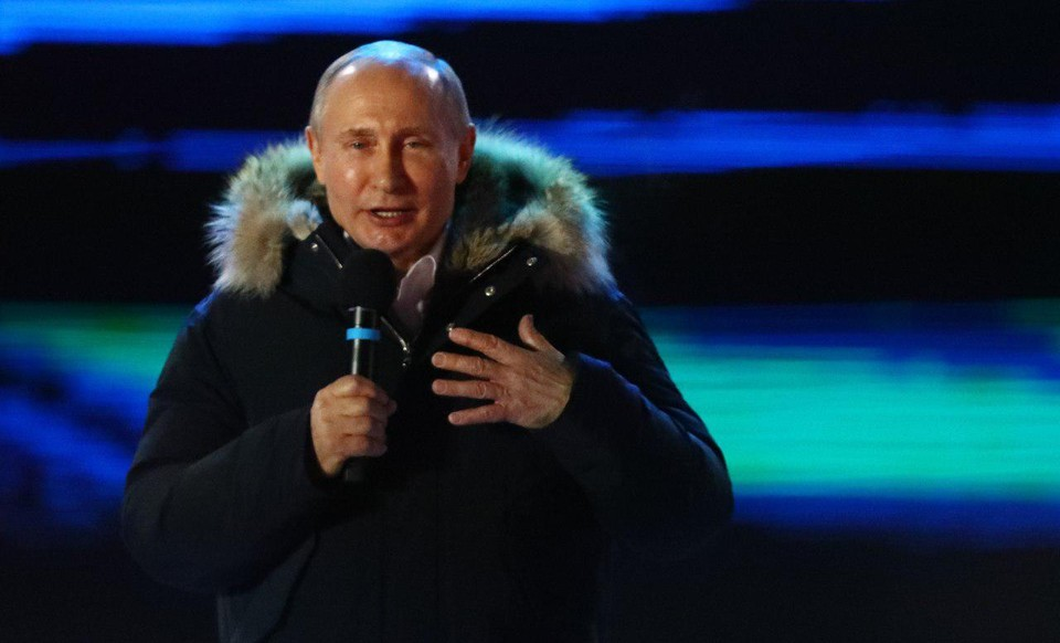 Владимир Путин на Манежной площади.
