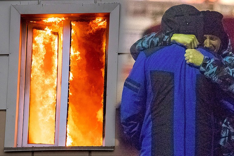 В огне пожара в кемеровском торговом центре погибли десятки человек. Фото: Данил Айкин/ТАСС