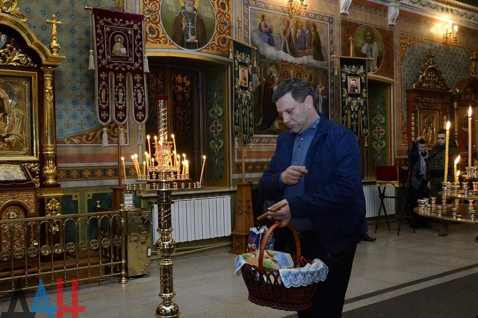 Глава посетил один из старейших храмов Донецка. Фото: ДАН
