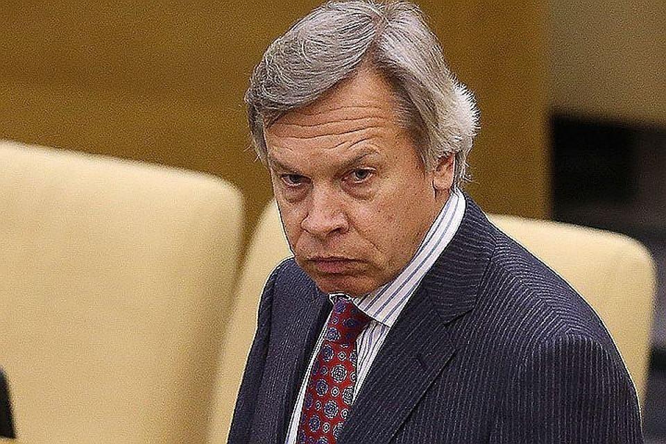 Глава комиссии СФ по информационной политике Алексей Пушков. Фото: Артем Коротаев/ТАСС