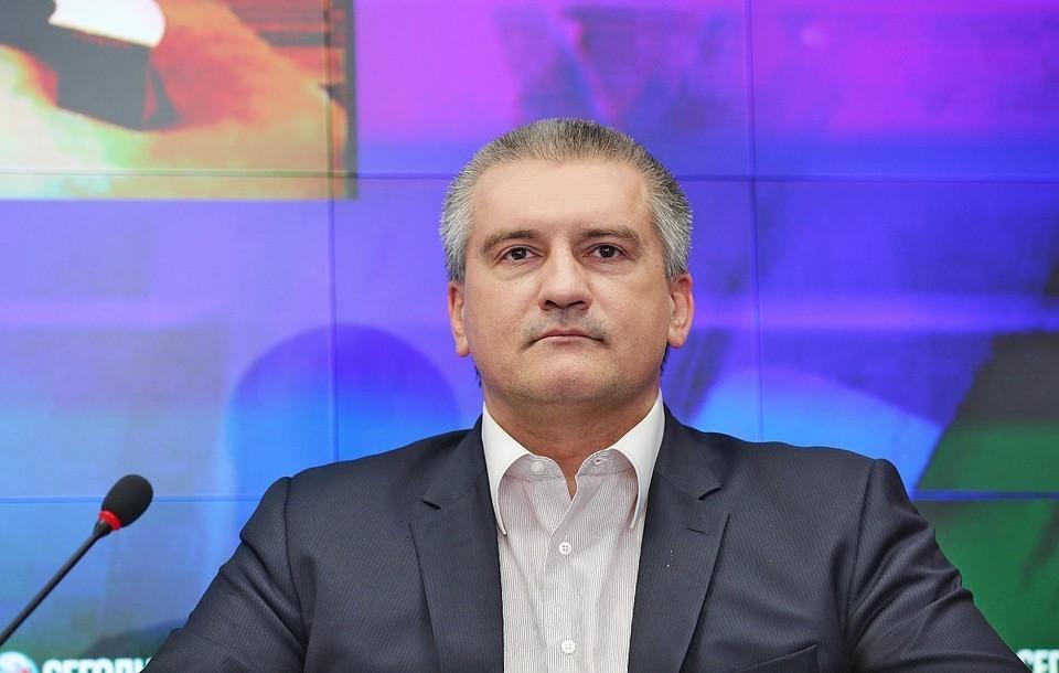Сергей Аксенов считает арест Ростенко провокацией. Фото: пресс-служба Главы Крыма.