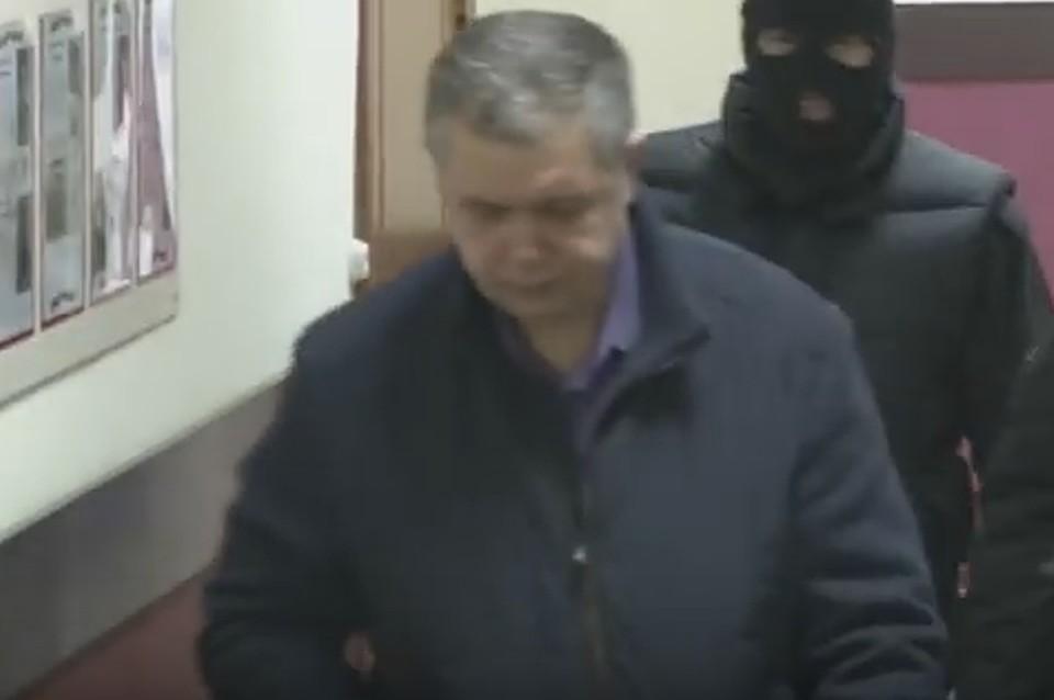 Задержание начальника МЧС Кузбасса Мамонтова. Скриншот с видео СК России