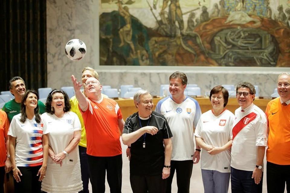 В ООН отметили открытие чемпионата мира по футболу 2018 года