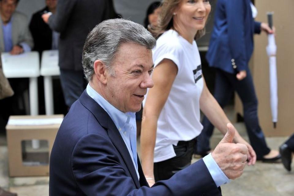 Действующий президент Колумбии Хуан Мануэль Сантос
