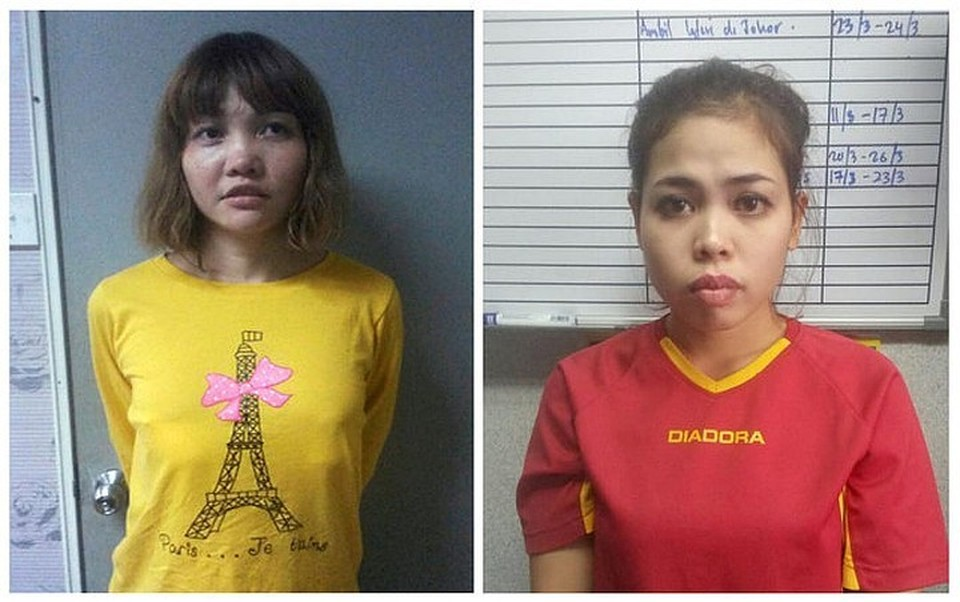 Вьетнамка Доан Тхи Хуонг (слева) и индонезийка Сити Айсиа (справа)