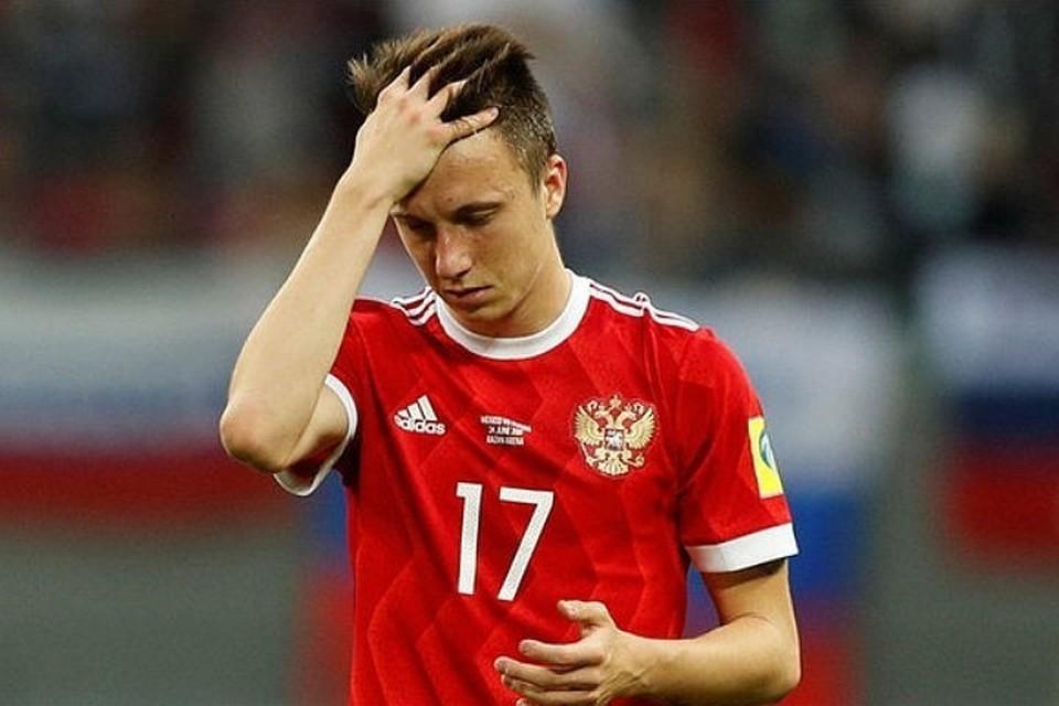 Полузащитник сборной России по футболу Александр Головин