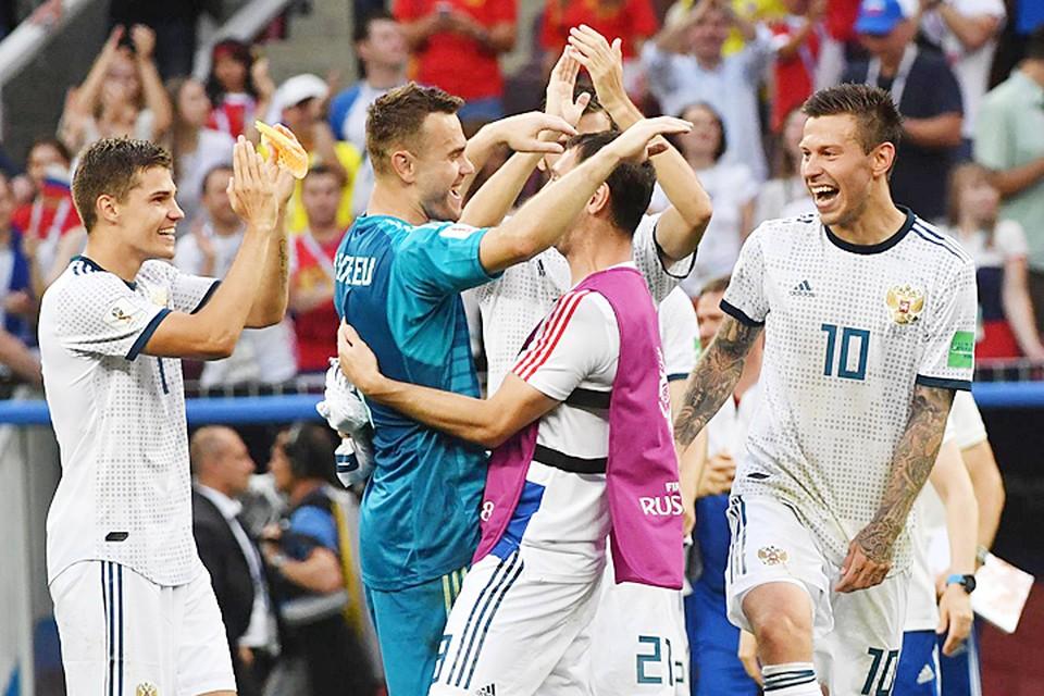 Команда Россия впервые в истории вышла в четверть финал