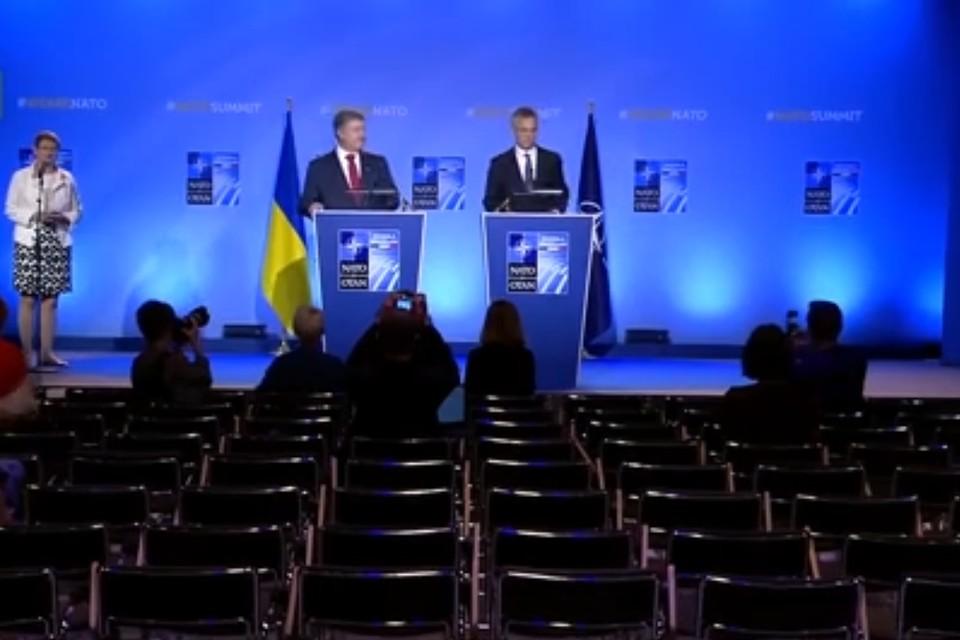 Порошенко начал со слов благодарности за возможность выступить на саммите НАТО