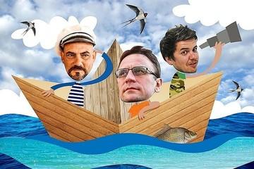 Экспедиция «Вниз по матушке, по Волге» вышла в Каспийское море, а Гусейнов наконец поймал рыбу!