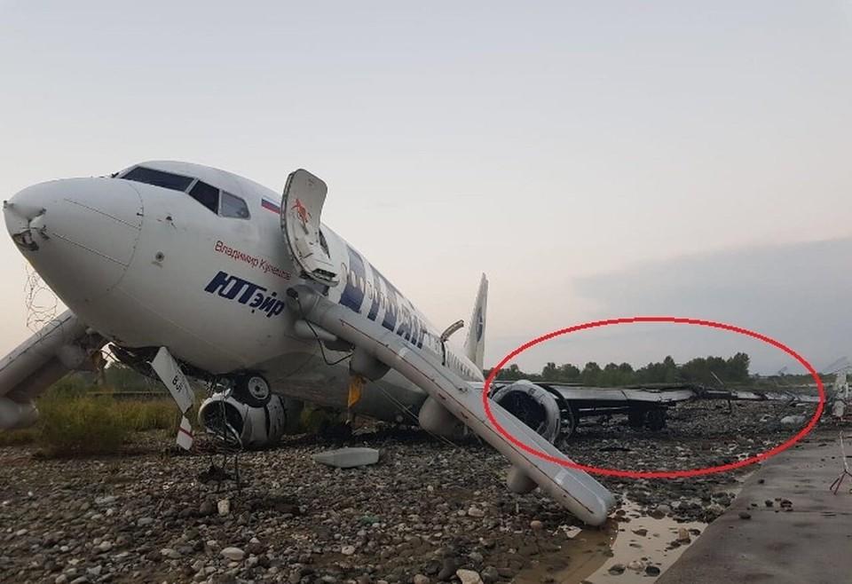 На снимках с места катастрофы не видно следов торможения шасси, которые должны быть. Фото: aviaforum.ru