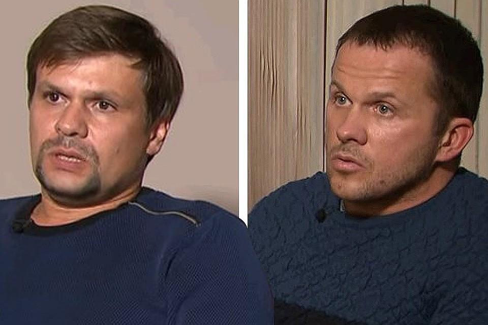 Александр Петров и Руслан Боширов во время интервью Russia Today.