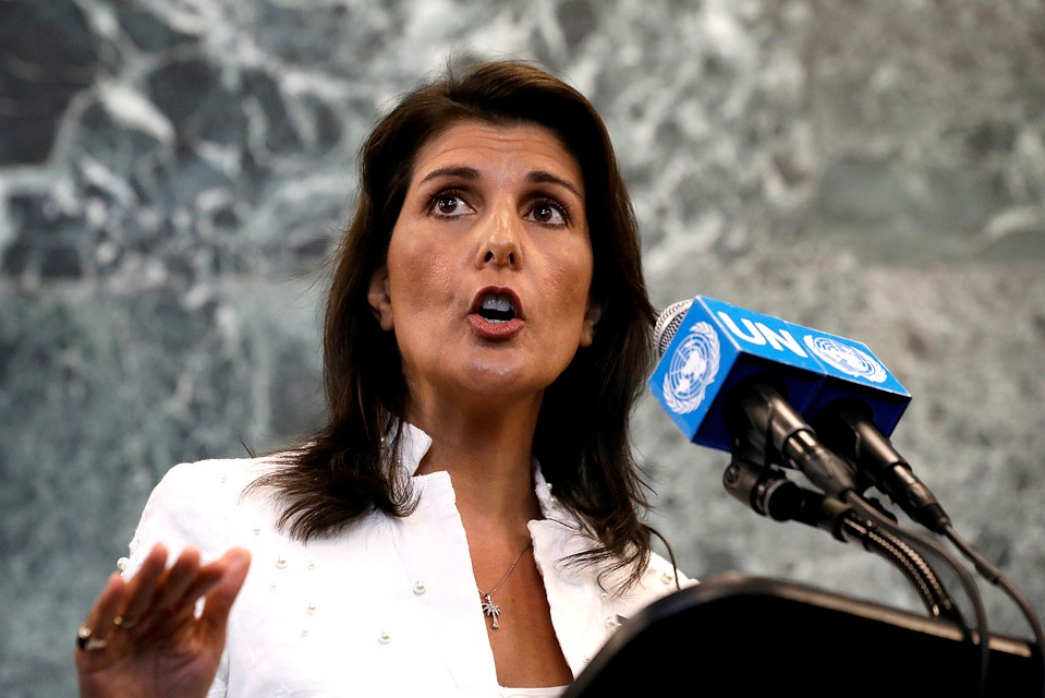 Как Белый дом принял отставку посла США в ООН Никки Хейли