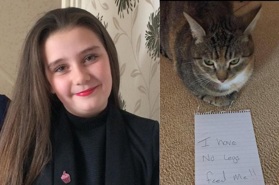 Анджела Тиннинг и кошка Мисси