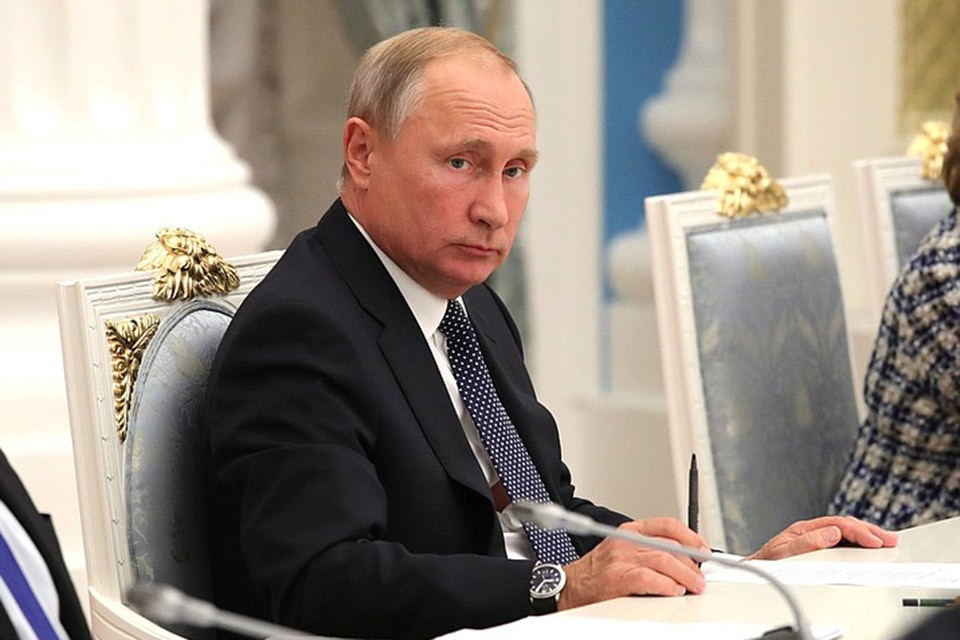 Президент Путин на заседании Совета при президенте по стратегическому развитию и национальным проектам. ФОТО kremlin.ru