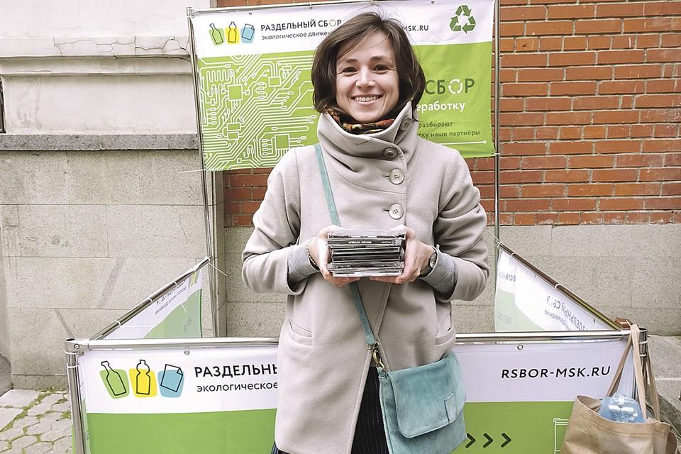 Активисты движения «Раздельный сбор» провели 20 октября четвертую акцию по сбору электролома на 27 площадках в 9 округах Москвы. Фото: Инна ИЛЬИНА
