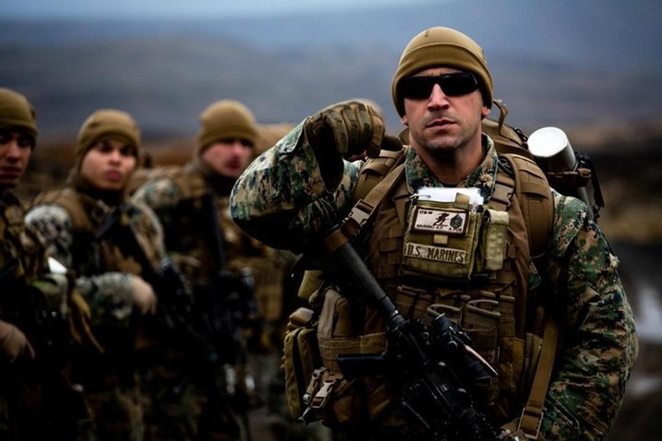 Американские морпехи на учениях НАТО