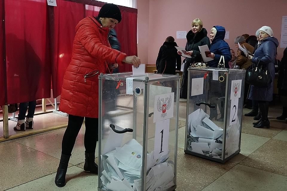 Голосование в прифронтовом участке на территории ДНР.