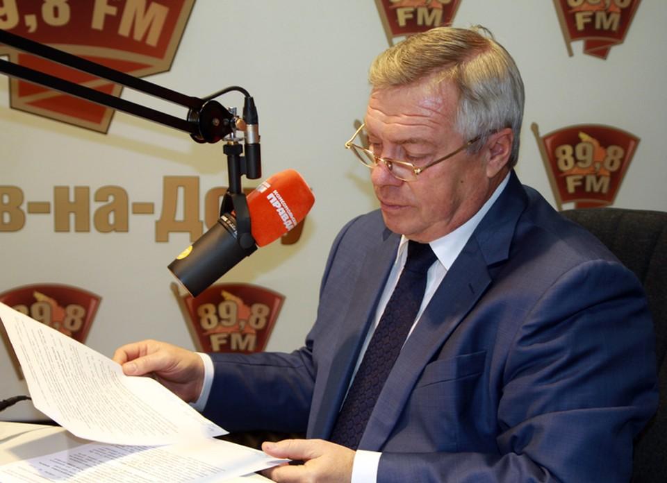 """Глава региона в течение часа отвечал на вопросы журналистов """"КП""""."""
