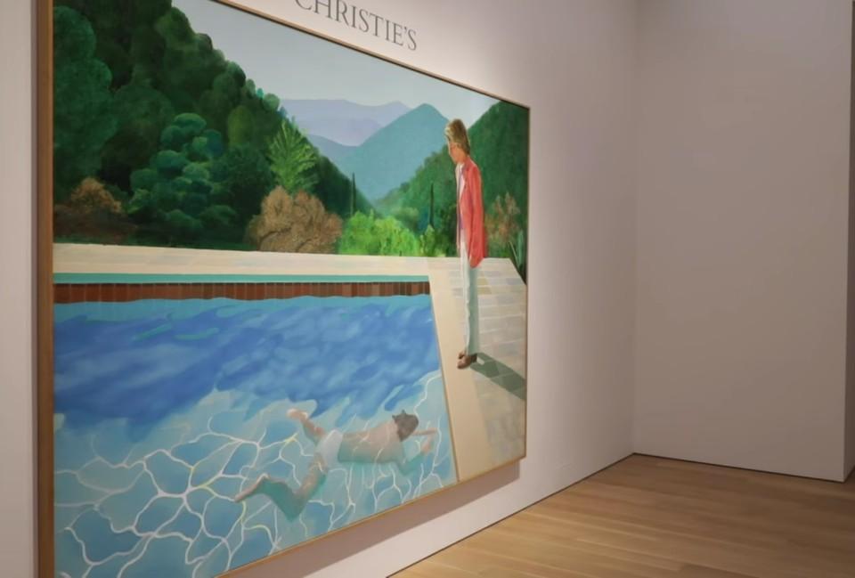 В этой работе достигли своей высшей точки два наиболее известных мотива художника – двойной портрет и бассейн