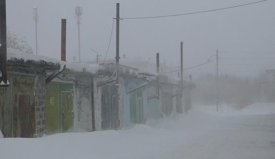 0973bf75293b В Воркуте бушует снежная буря, занятия в школах отменены