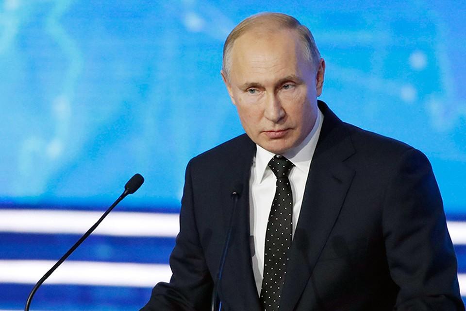 Президент России Владмиир Путин