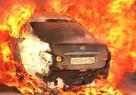 В Екатеринбурге на Объездной дороге после ДТП  загорелись два автомобиля