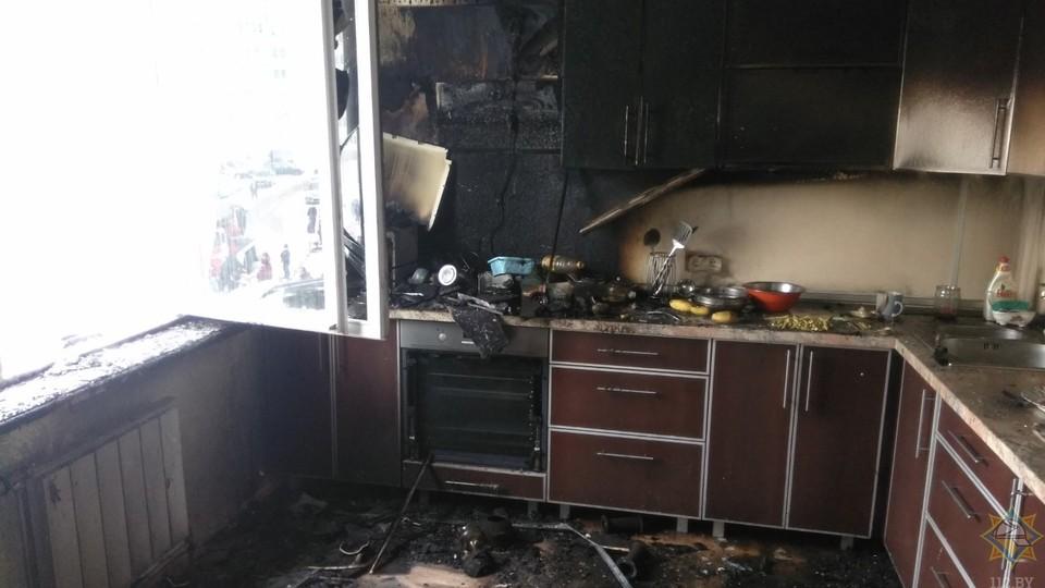 Детские кулинарные эксперименты обернулись пожаром.