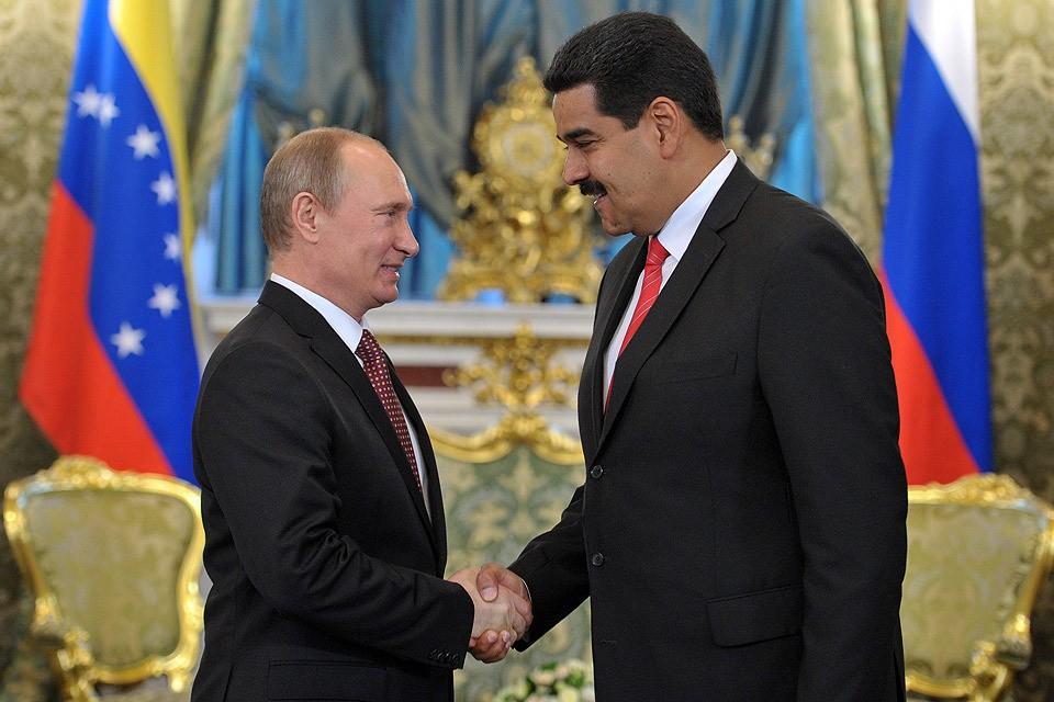 Президент России Владимир Путин и президент Венесуэлы Николас Мадуро во время встречи в Кремле. Фото ИТАР-ТАСС/ Алексей Никольский