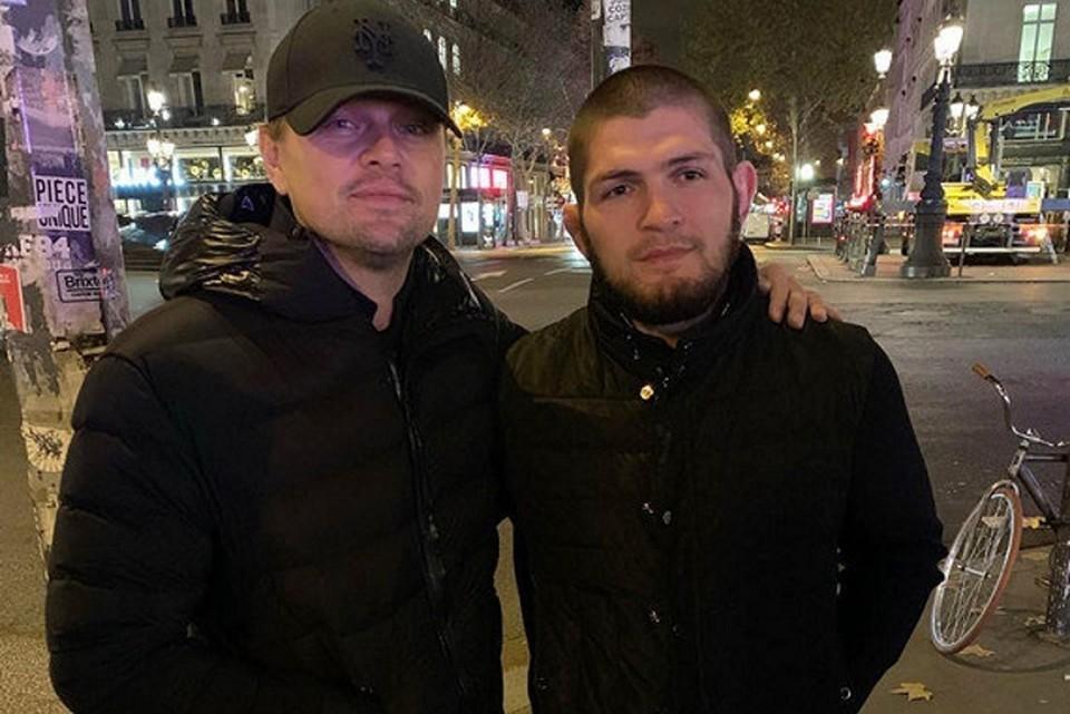 Леонардо ди Каприо и Хабиб Нурмагомедов в Париже.