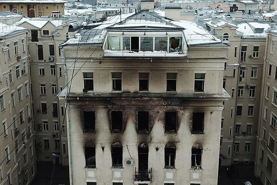 Квартира №48 на последнем этаже пострадала больше всех остальных