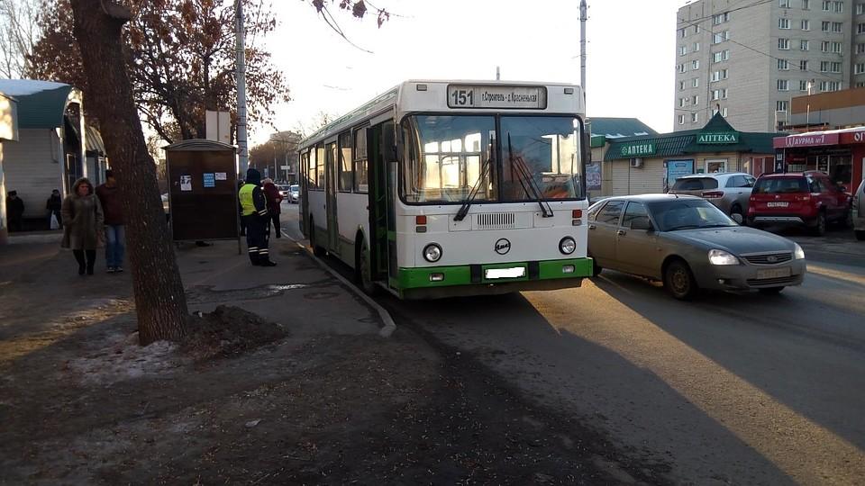 Моршанский автобус попал в аварию