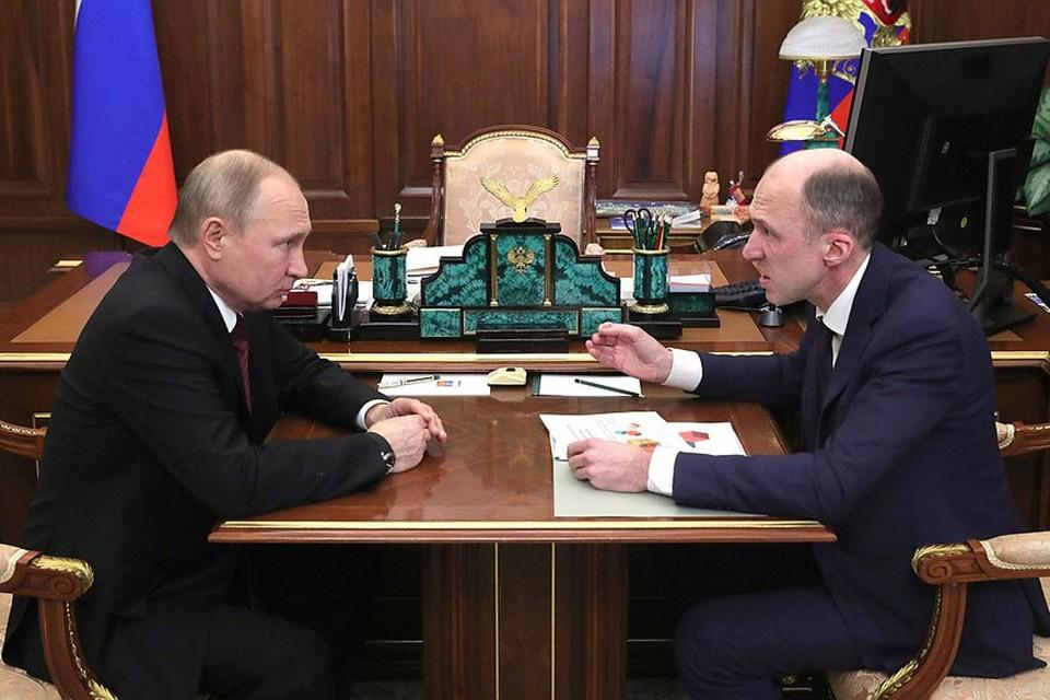 Рабочая встреча Владимира Путина и Олега Хорохордина