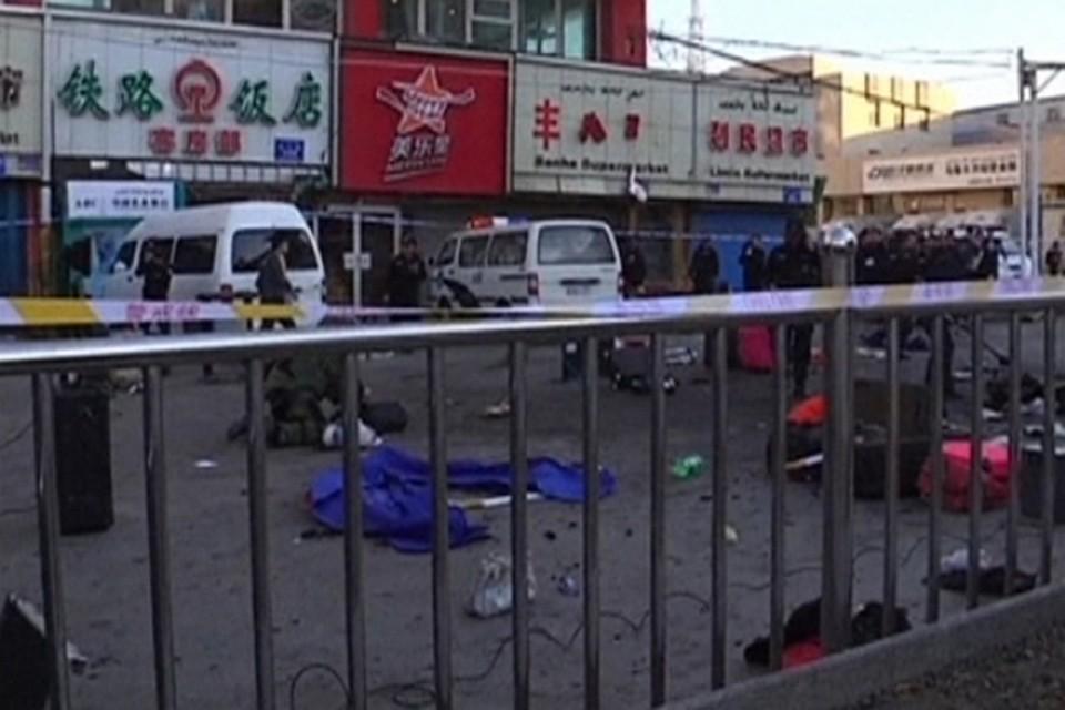 Три человека пострадали в результате взрыва возле здания полицейского участка в Китае
