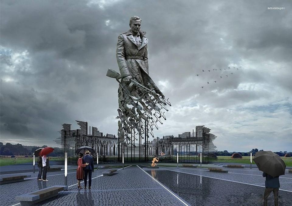Визуализация проекта Ржевского мемориала. Фото: Российское военно-историческое общество