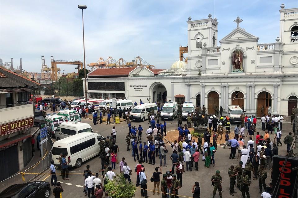 На Шри-Ланке прогремели шесть взрывов