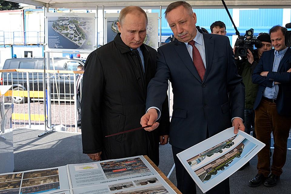 «А парк-то будет чуть получше Зарядья»: Путин о проекте, представленном врио губернатора Петербурга