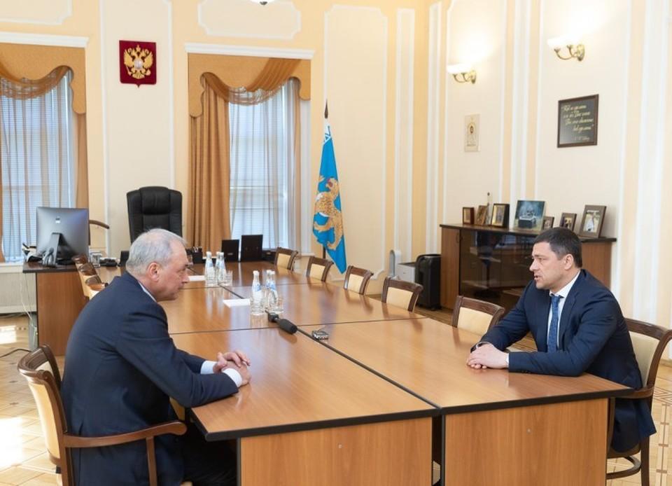 Губернатор Михаил Ведерников предложил присвоить Псковской области статус приоритетной для переселения соотечественников. Фото: АПО