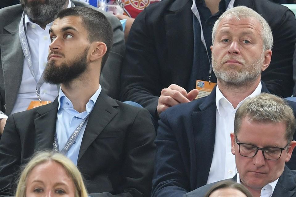 Роман Абрамович с сыном Аркадием на финале Лиги Европы УЕФА.