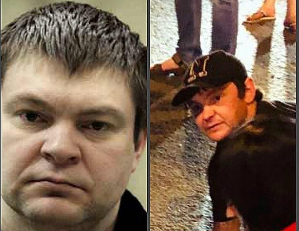 Слева - Сергей Цапок, справа - предполагаемый главарь банды
