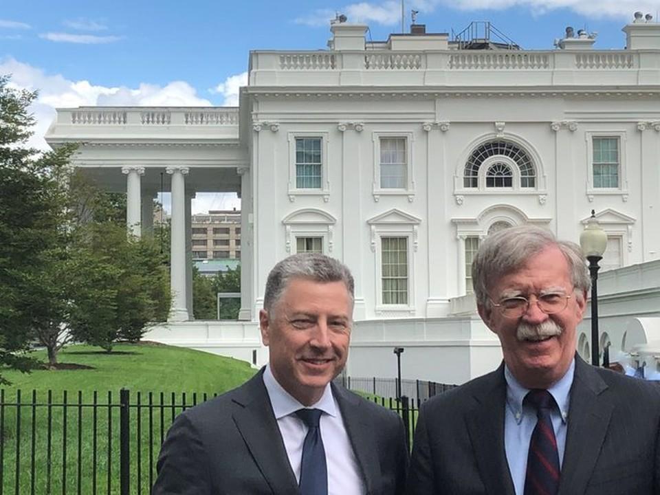Постпред США по вопросам Украины Курт Волкер и помощник президента США по национальной безопасности Джон Болтон