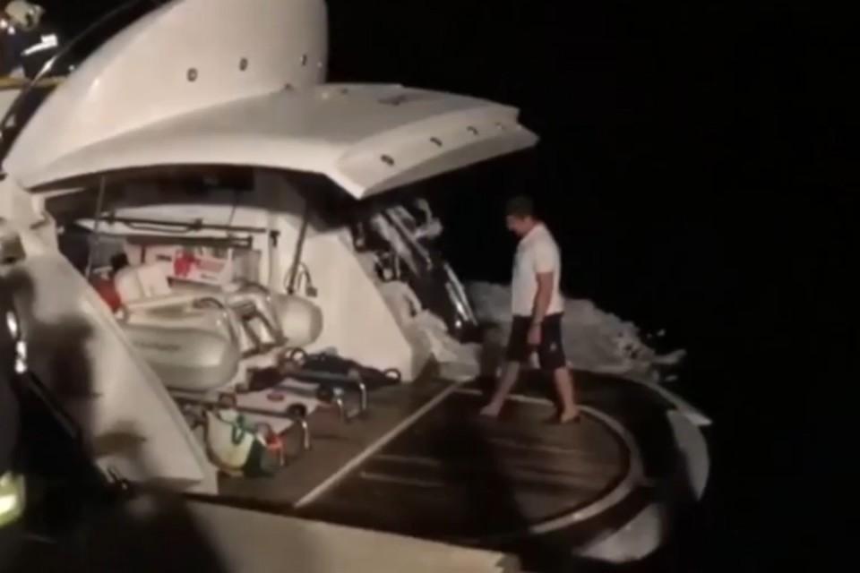 Владимир Кличко едва не погиб на горящей яхте в Средиземном море. Фото: скриншот с видео
