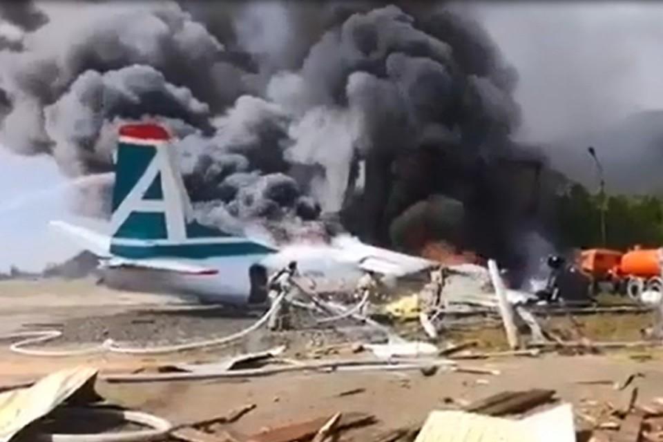 Видео авиакатастрофы Ан-24 в Бурятии появилось в сетях