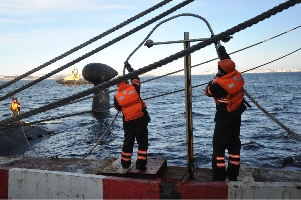 Глубоководный аппарат приписан к военно-морской базе в Североморске.