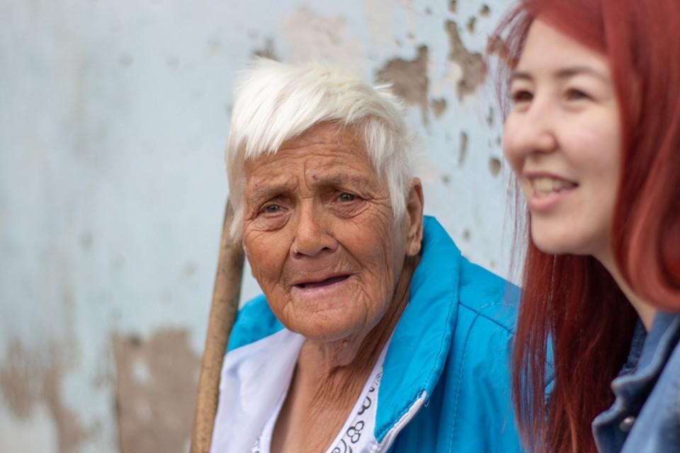 Баба Тоня из Максимовки рада всем гостям
