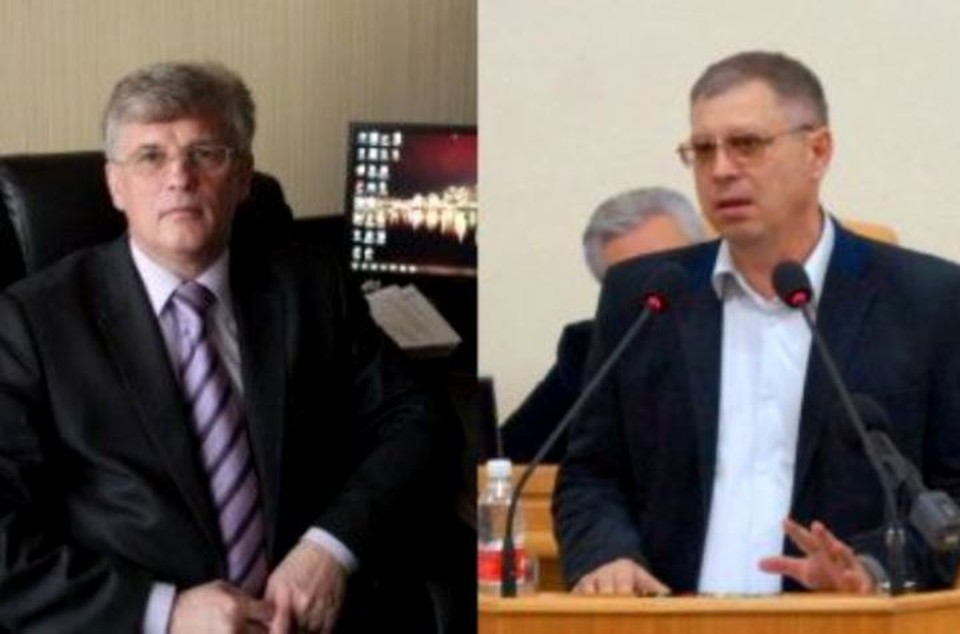 Олег Гужвинский (слева) и Сергей Кучумов отправились в СИЗО до середины сентября. Фото с сайта администрации Астраханской области.