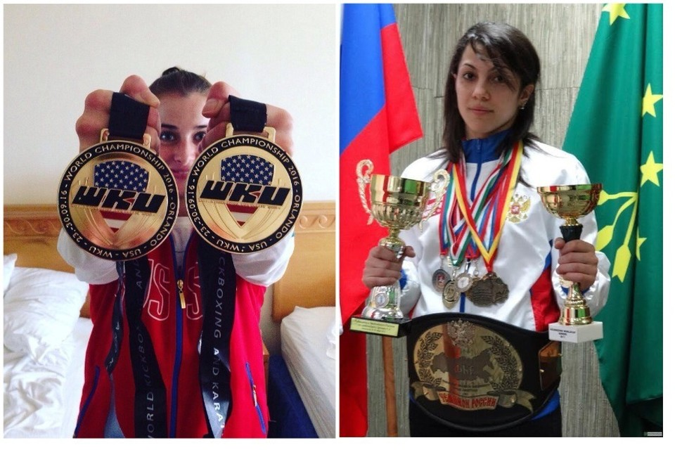 Элина Гисмеева (слева) и Фатима Жагупова (справа)