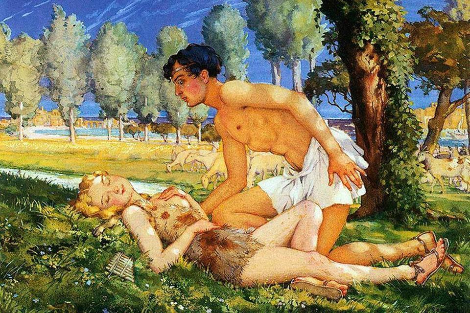Иллюстрация к роману «Дафнис и Хлоя», 1930 год.
