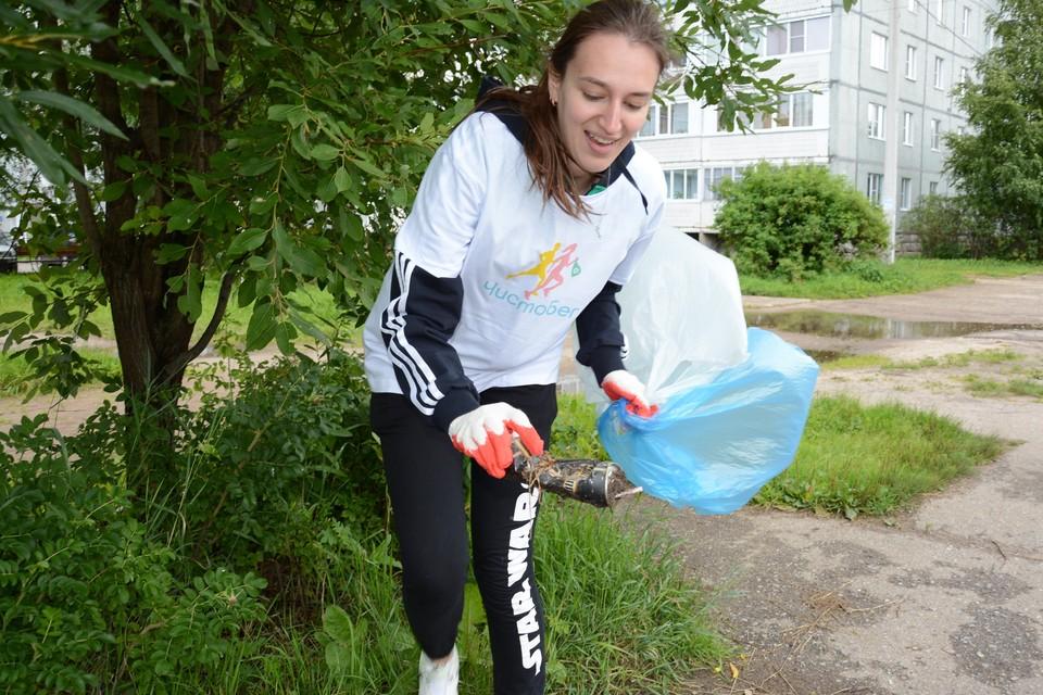Участники должны были пробежать дистанцию в 4 километра и по пути собирать мусор.