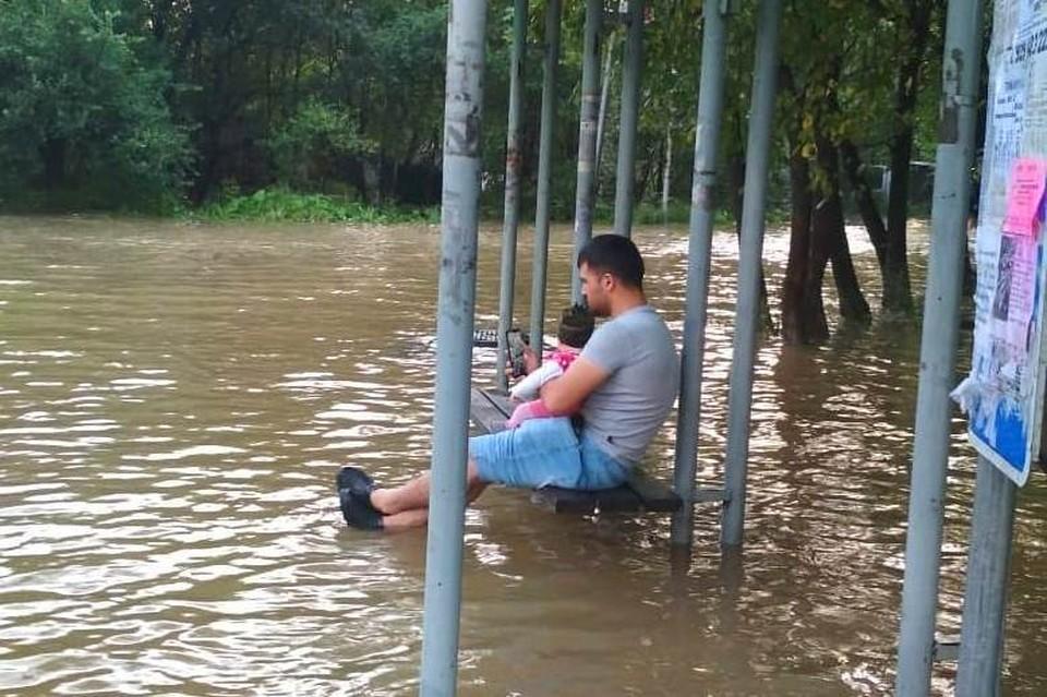 Затопленный пригород Владивостока