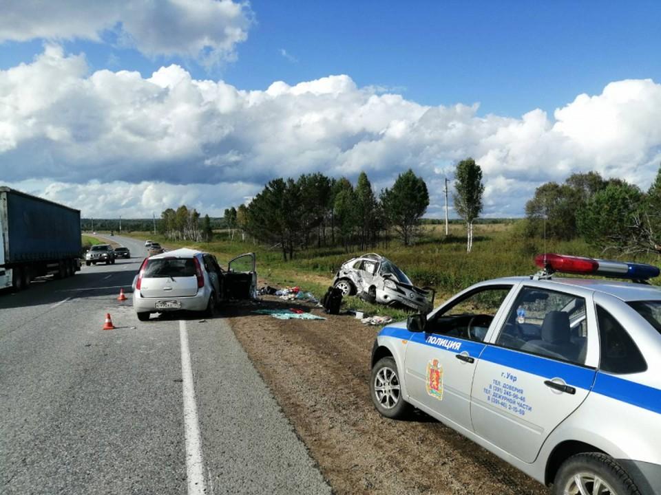 В аваии пострадали 6 человек Фото: ГУ МВД по Красноярскому краю